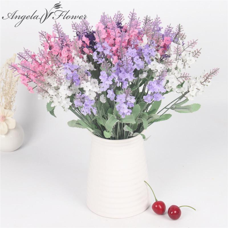 10 Heads Artificial Flower Romance Silk Lavender Flower Bouqet