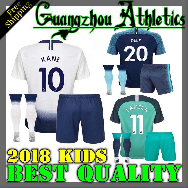 18 19 Tottenhames Kids Home Soccer Jersey Kits 2018 2019 Spurs Dier ... 5e16f8659