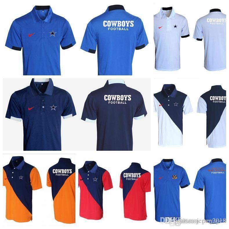 reputable site b7575 0dd6b 2018 Men s new T-shirt Dallas Cowboys Cincinnati Bengals Atlanta Falcons  Pittsburgh Steelers Evergreen Polo Various styles and colors D