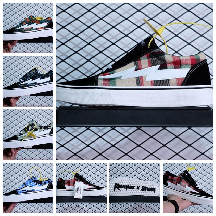 2018 Revenge X Storm Ii Vol.1 Low Top Black Plaid Rxstrmlt Blkpld Gd129 Ins  Canvas Skateboard Sneakers Hip Hop From Crystal03 99248a878