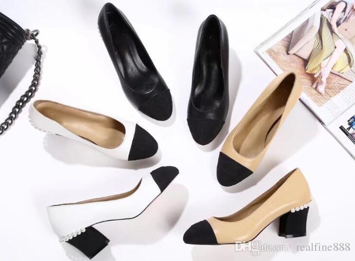 AAAAA Women 2018 Spring 2065180 6.5cm High Heels Lambskin Grosgrain Pumps  Shoes 911a2240403e
