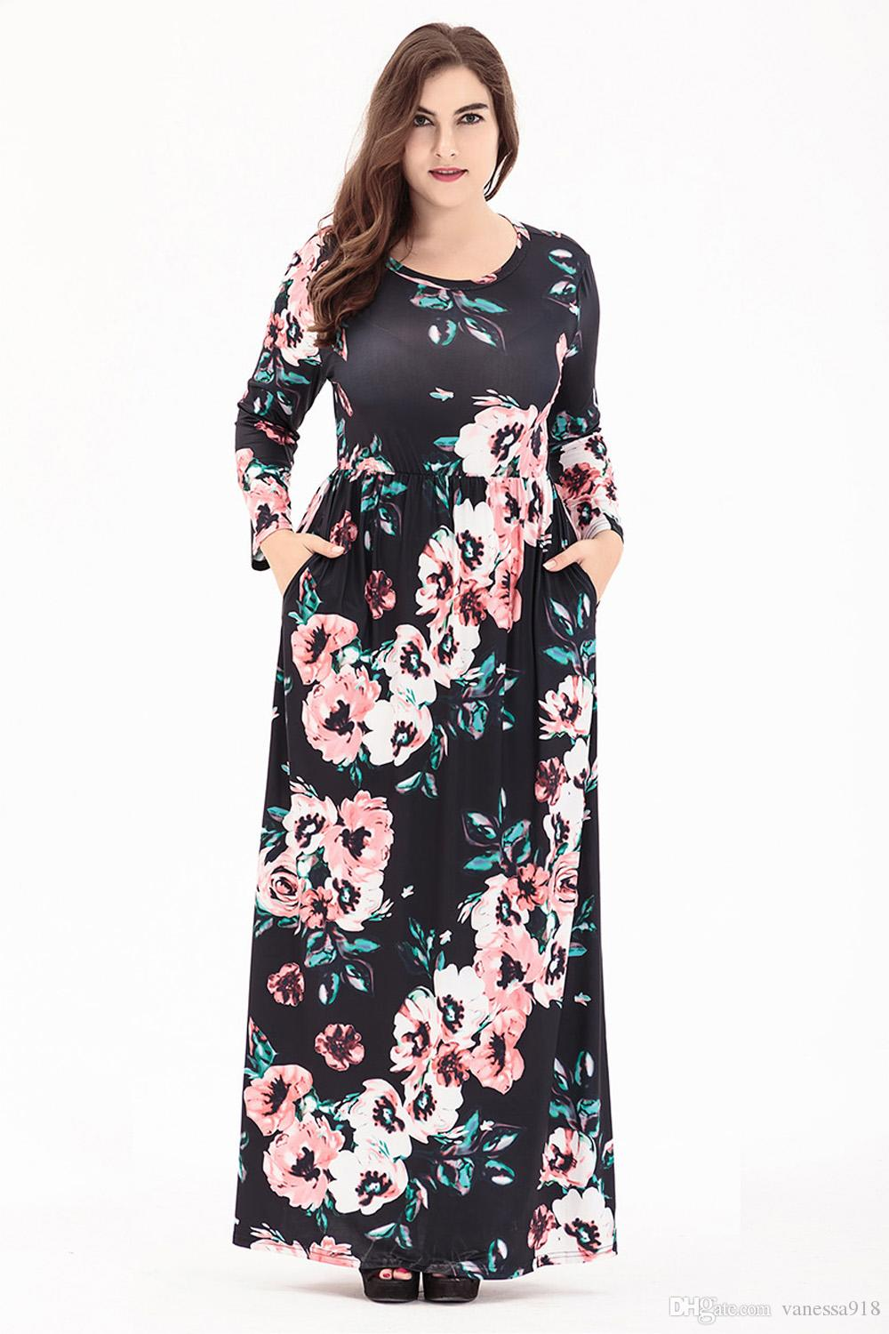 Party Dress Plus Size Women Clothing Straight Casual Dress Large ...