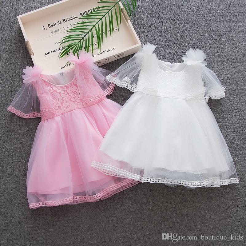 2018 Baby Girl Dresses Summer Baby Tutu Dress Toddler Girls Princess Fashion Mesh Lace Dress for Girls Infant Clothing Boutique Kids Clothes