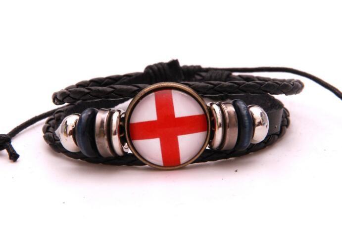 Infinity Love bracelet Suisse Suède Russie 2018 coupe du monde bijoux En Cuir Drapeau National femmes hommes Bracelets cadeau Pour Les Fans De Football