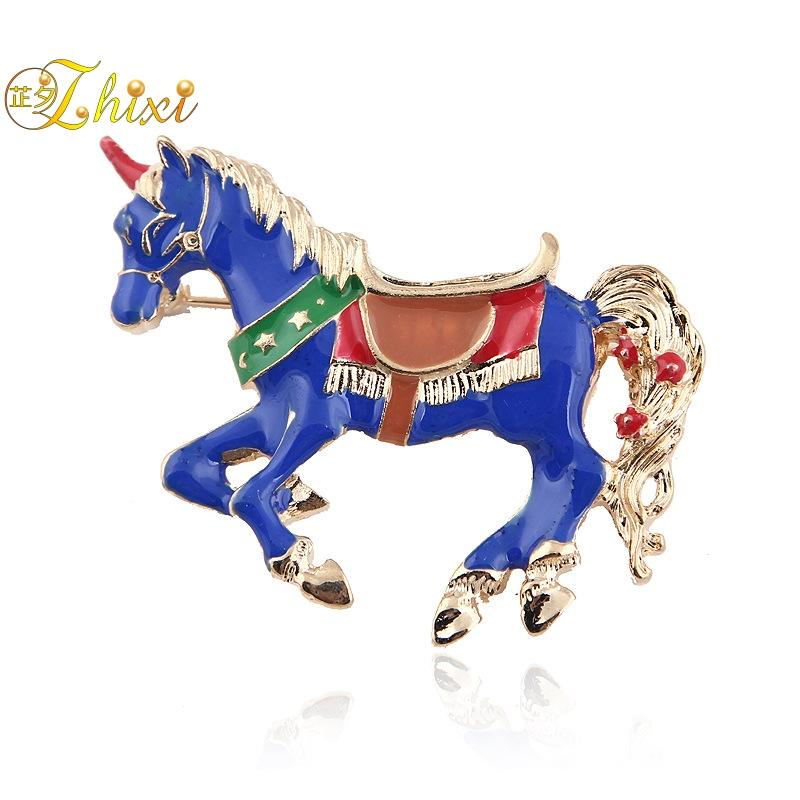54e3943cc85 2019 ZHIXI Simple And Stylish Horse Brooches For Women Fine Jewelry White  Brooch Jewelry Luxury Pins For Clothes Trendy Coral B131 From Xiajishi, ...