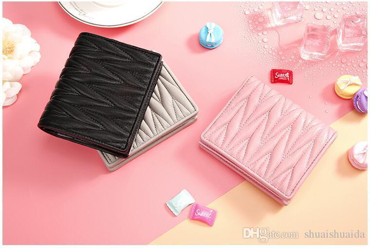 Kadın cüzdanı. Kısa. Gerçek Deri. Yumuşak inek derisi. Kadın billfold. Sıfır çanta. Küçük. Monokromatik. Cüzdan. Kart çantası. A495