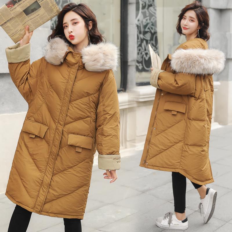 Parkas Winter Jacket Women 2019 Female Coat Hooded Slim Outwear Woman Long Parka Faux Fox Fur Cotton Padded Abrigos Mujer Invierno Women's Clothing