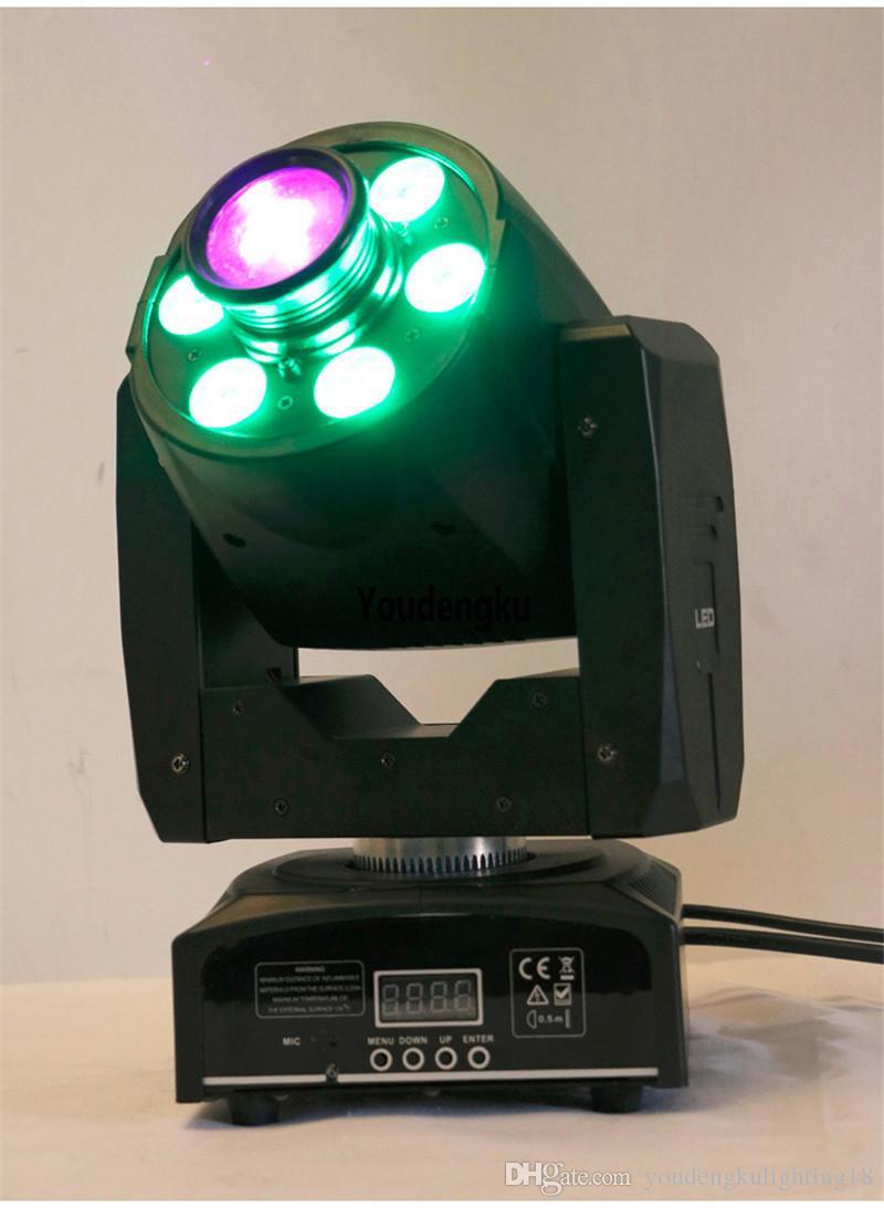6 قطع 30W RGBW LED بقعة نقل رئيس ضوء أدى نقل رئيس RGBW غسل ضوء 30W أدى مصغرة تتحرك بقعة ضوء الرأس