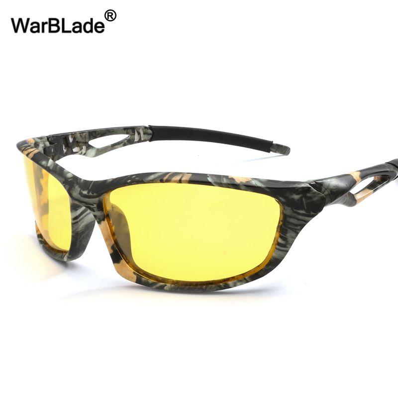 bad38c5a5a Compre Gafas De Sol Polarizadas De Warblade Fashion Para Hombres Visión  Nocturna Lente Amarilla Gafas De Conducción De Sol Antideslumbrante  Conductores De ...