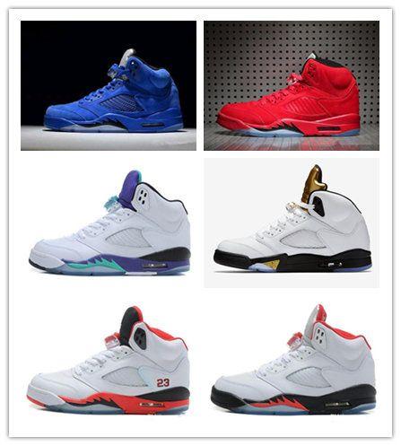 36fbcabc8c07 Box 2018 Mens Basketball Shoes 5 5s V Olympic Metallic Gold White ...