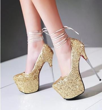 New Arrival Hot Sale Specials Sweet Girl Sexy Fine Noble Nightclub Stiletto Elegant Platform Spicy Highlight Party Single Heel Shoes EU34-43