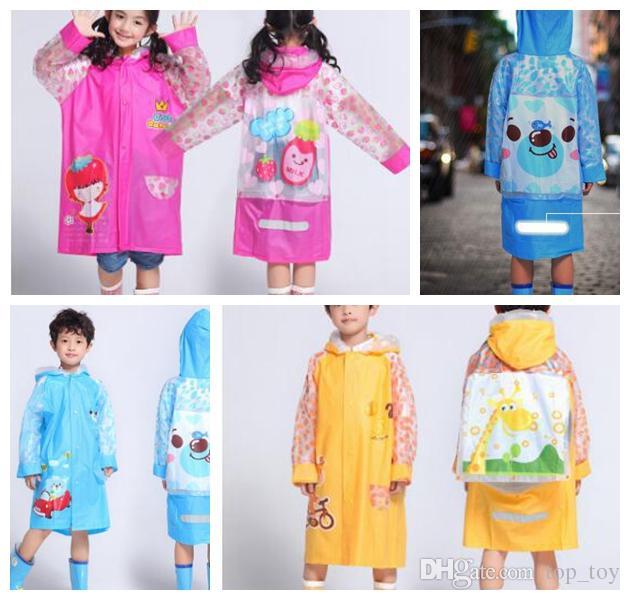 6584da999 Kids Multicolor Raincoats With Cartoon Rainsuits Cute Animals Shape ...