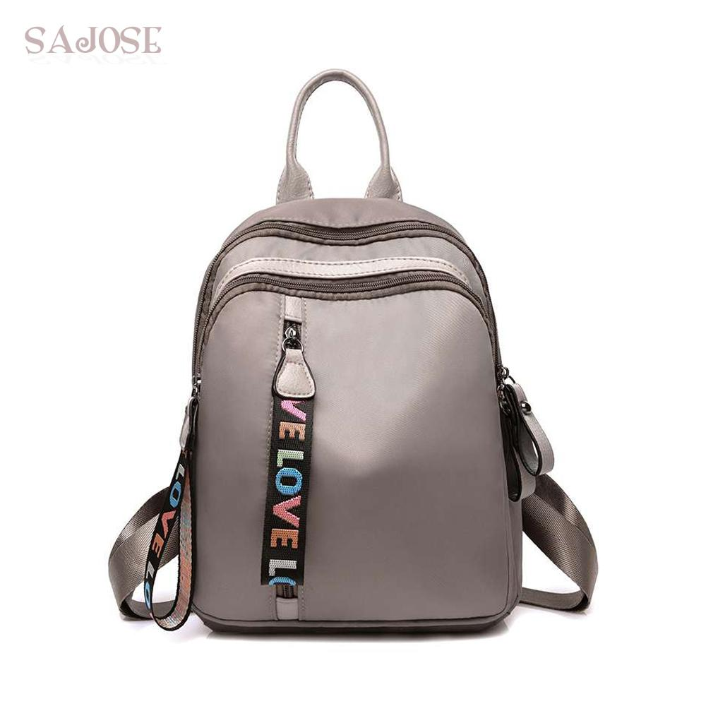 3601f246f6 Backpacks School Bags For Teenage Girls Women Casual Nylon Backpack Lady  High Quality Fashion Female Khaki Student Shoulder Bag Mesh Backpack  Justice ...