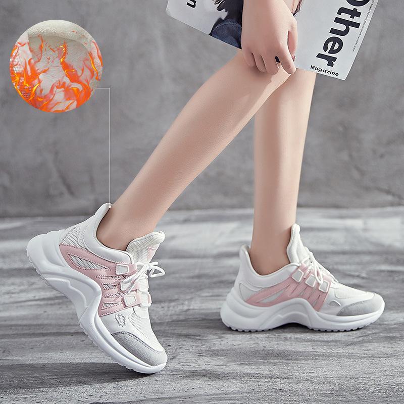 cfaf5bee3e3 Compre Outono Vulcanize Sapatos Das Mulheres Tênis De Plataforma Alta Moda  Feminina Sapatos Femininos Casual Chunky Calçado Mulheres Respirável 35 43  De ...