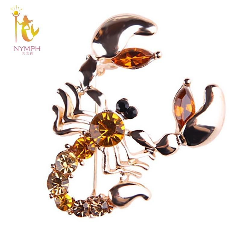 [NYMPH] Fine Jewelry Brooch Zircon Brooch Simple And Stylish Scorpions  Brooches Brand Luxury For Wedding B38Y1882903