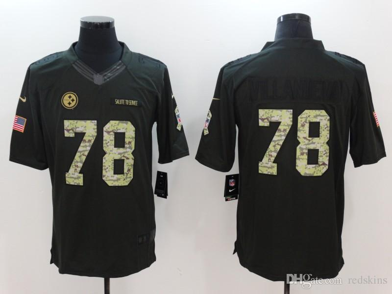 newest collection 04d92 8a3f9 JuJu Smith-Schuster Jersey James Conner TJ Watt Ben Roethlisberger 2018  camo salute to service football jerseys all stitched top quality 4xl