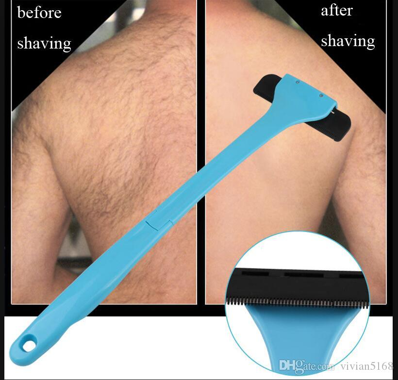 Folded Back Shaver for Men Back Hair Plastic Long Shaving Handle Shaver Back Hair Shaver Removal For Body Hair Care Body Massage