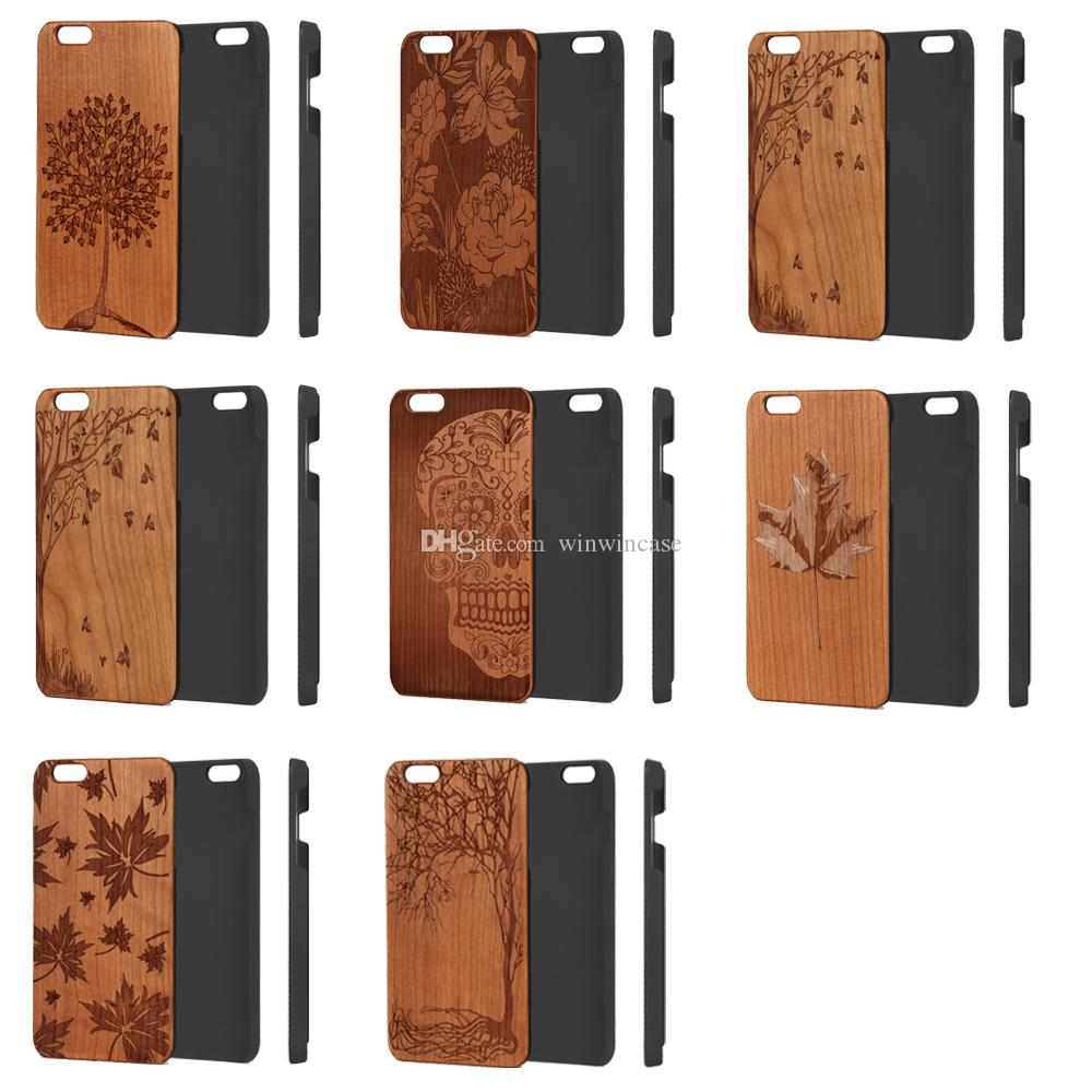 Fashion new design style wood cellphone case for iPhone 6plus 6splus 6 6s s plus, luxury hard back cover for Apple i Phone