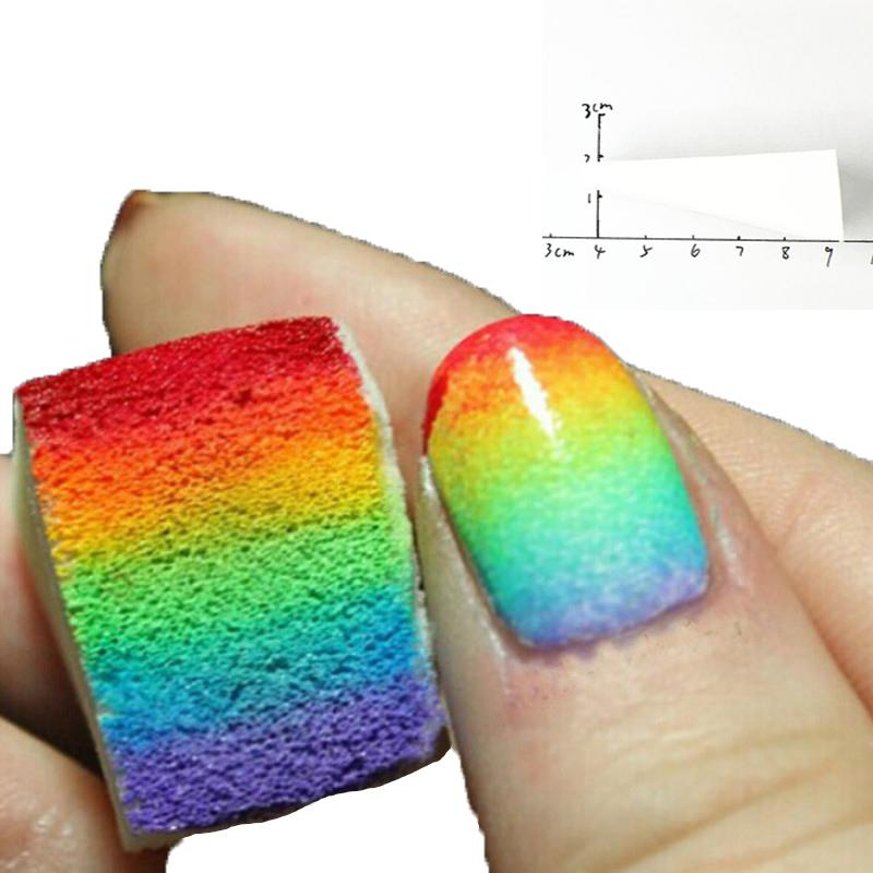 Gradient Color Sponge Nail Art Stamping Transfer Soft Triangle