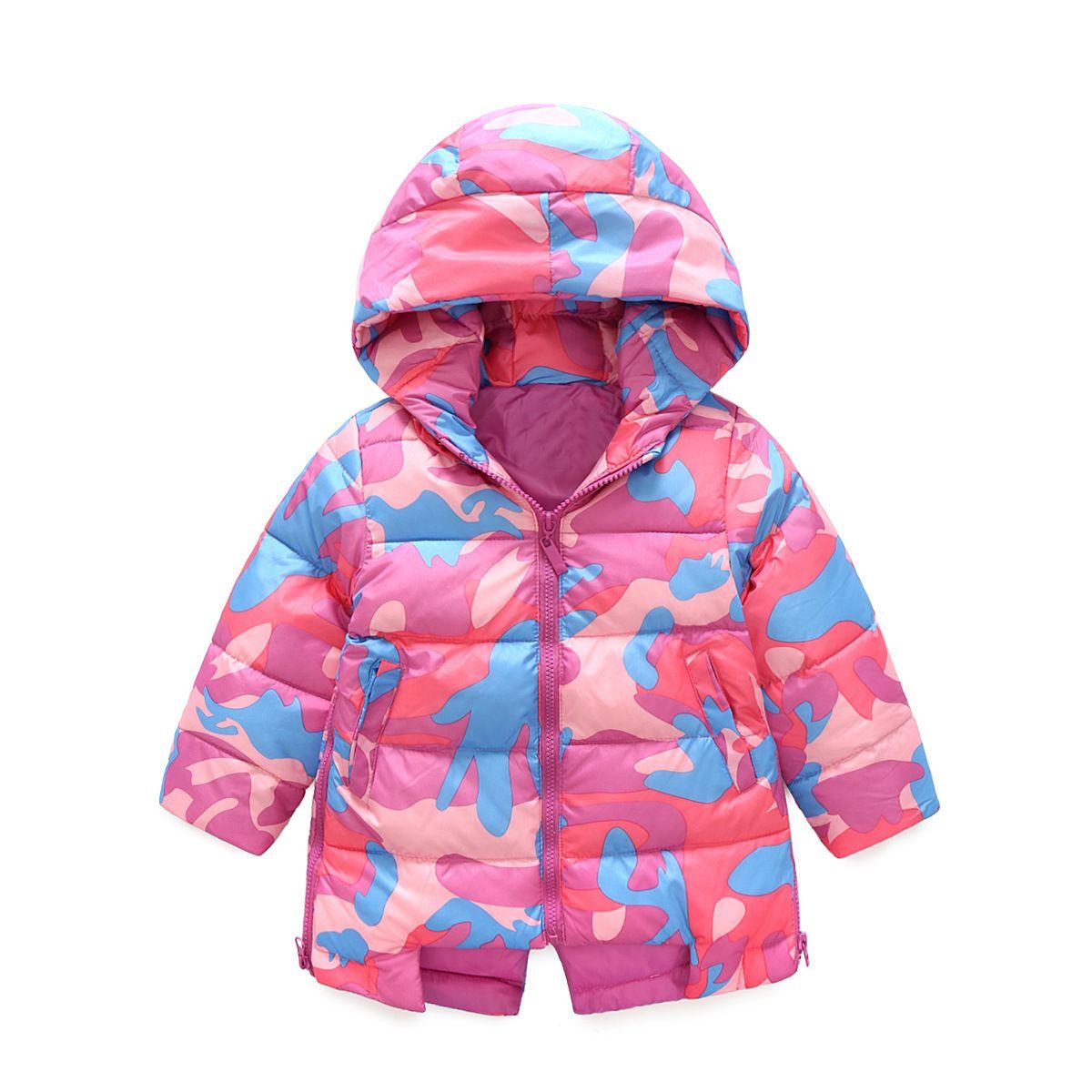 6fcc99306 2017 Winter Baby Girls Coats Outwear Fashion Children Long Sleeve ...