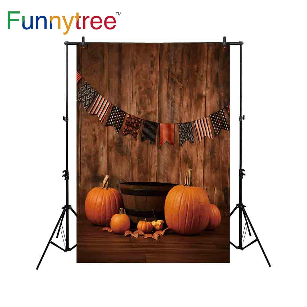 2018 wholesale backdrop for photo studio halloween vintage wood wall pumpkin tub flag baby shower photography background photocall from guojiangcomputer