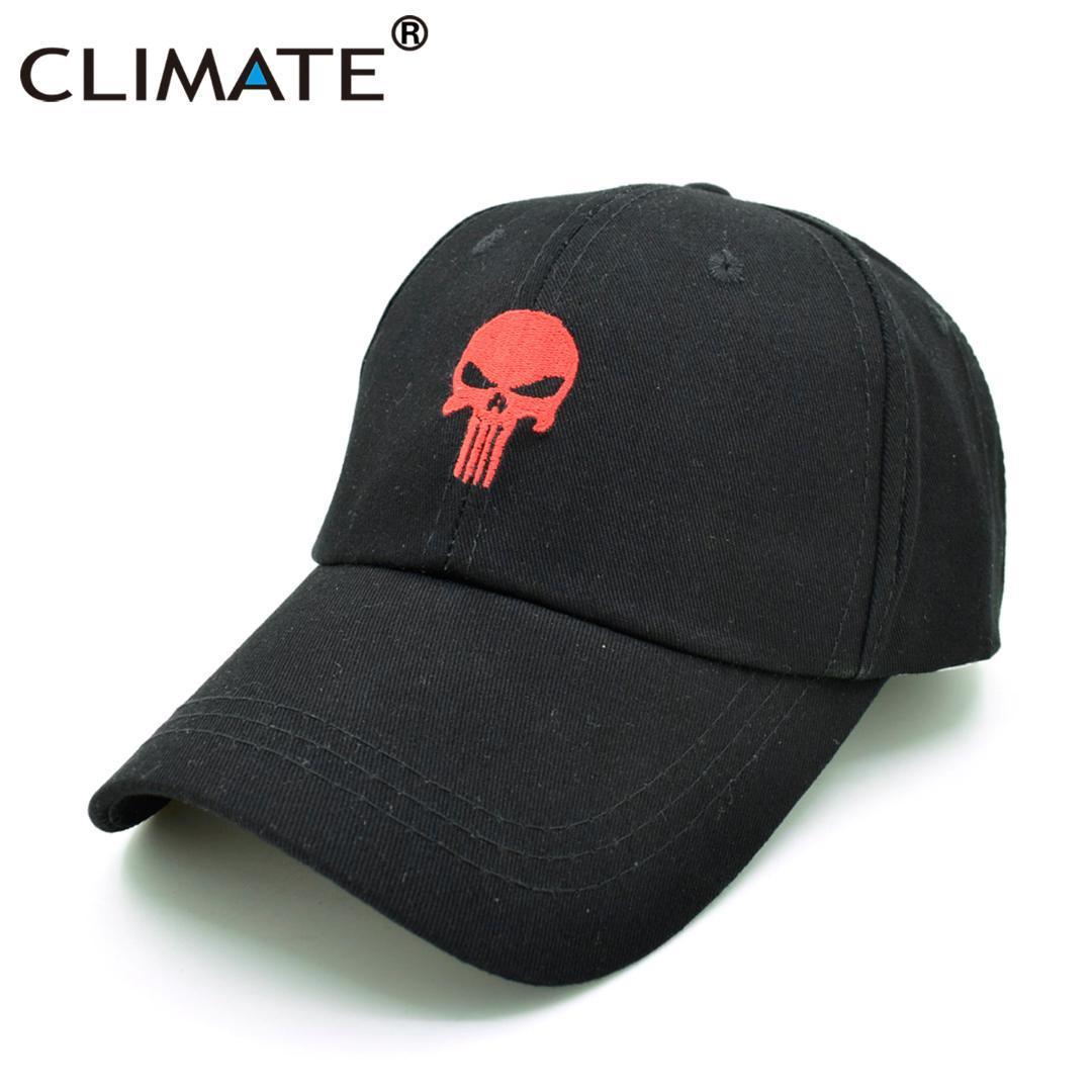 b1bb2e7b9a9 CLIMATE New Men Cool Caps The Punisher Skull Dad Cap Hats Hot Black Cotton GYM  Sports Baseball Snapback Hats Caps Hat For Men Baseball Caps For Women Caps  ...