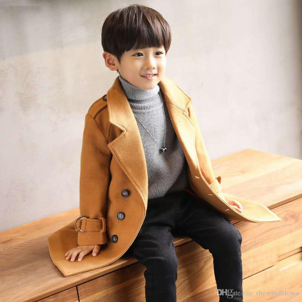 1dfac52f7 Winter Boys Kids Coat Jacket For Children Clothing Woolen Outerwear ...