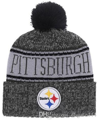 Winter Pittsburgh Beanie Sideline Cold Weather Graphite Sport Knit Hat  Knitted Wool Hat Adult Bonnet Warm Official Reverse Cap Black Beanie