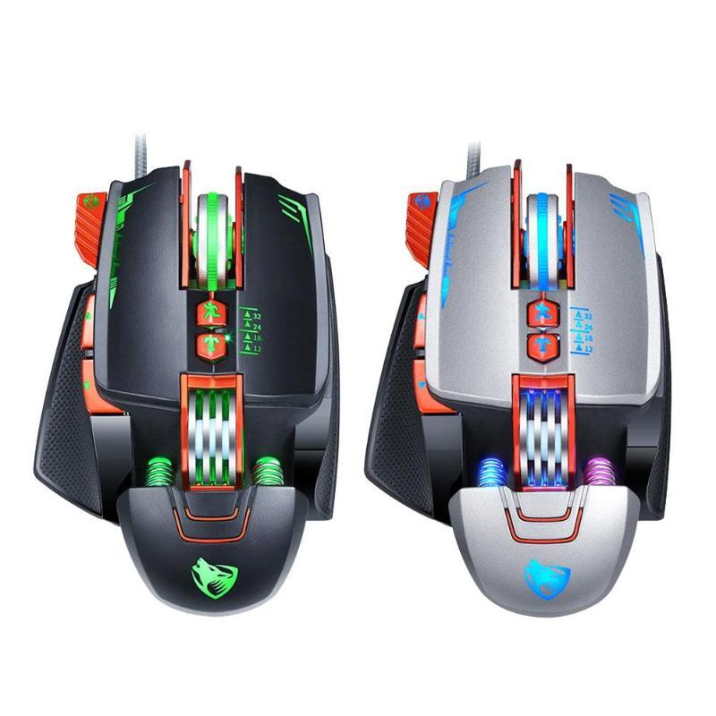 26b3925a8fe 2019 Mechanical Gaming Mouse Adjustable DPI 7 Backlights 8 Keys Competitive  Mice From Doper, $28.95 | DHgate.Com