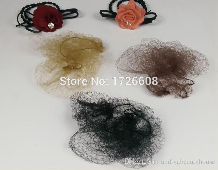 Nylon Hairnet for Hair Weaving Invisible Net for Bun Cover Snood ... a4aa6cb09973