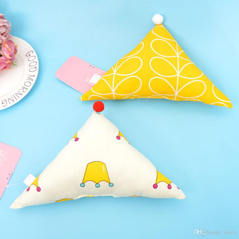 Coloful 7 Types Cartoon Infant Pillows Geometry Shape Soft Head - Geometrical-shapes-on-bedding