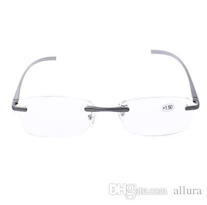 dd3d0ff54a Aluminum Alloy Rimless Reading Glasses Presbyopic Eyeglass Resin Lens +1.0  to +3.5 Eyeglasses Reading Eyewear Reading Eyeglass Online with   12.76 Piece on ...