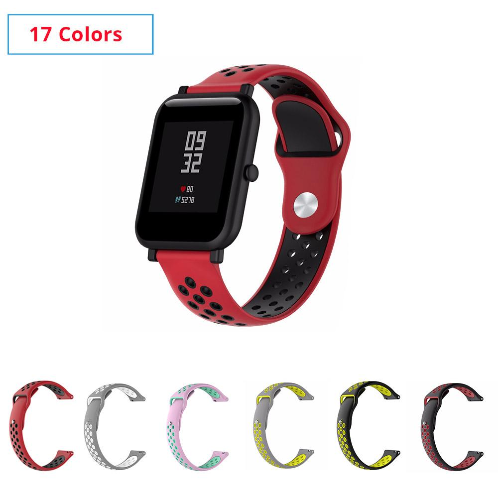 Back To Search Resultswatches Watchbands Silicone Smart Accessories Wristband Straps For Xiaomi Huami Amazfit Bip Youth Double Colorful Replacement Smart Watchband 20mm Sale Price