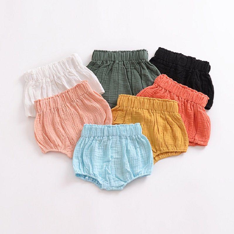 4ba1611c1 2018 Summer INS Baby Pants Unisex Children Girls Boys Cotton Linen Blend  Bloomer Shorts 0-6 Years INS Baby Pants Children Boys Girls Shorts Cotton  Linen ...