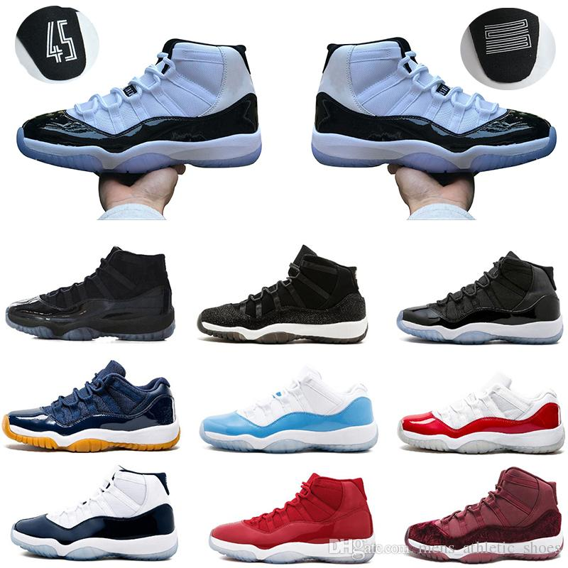 b57654bc23e 2019 Basketball 11s Concord 45 23 Shoes Platinum Tint 11 Mens Trainers 72  10 Georgetown Space Jam Womens Sneakers Sport Shoes US 5.5 13 From ...