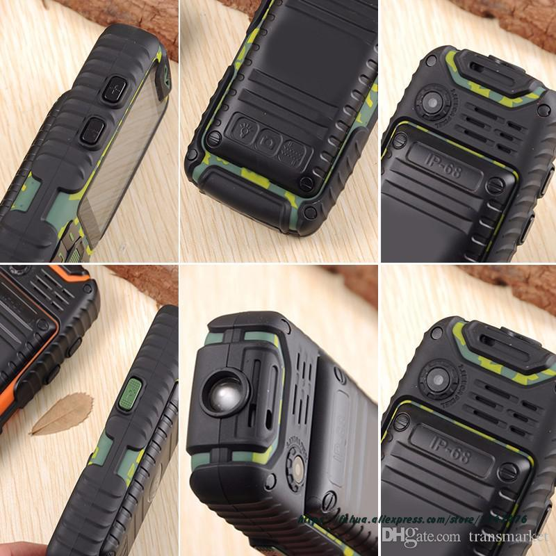 Guophone A6 Rugged Power Bank Phone With 2.4'' TFT Shockproof Loud Speaker Flashlight Dual SIM Senior Outdoor CellPhone