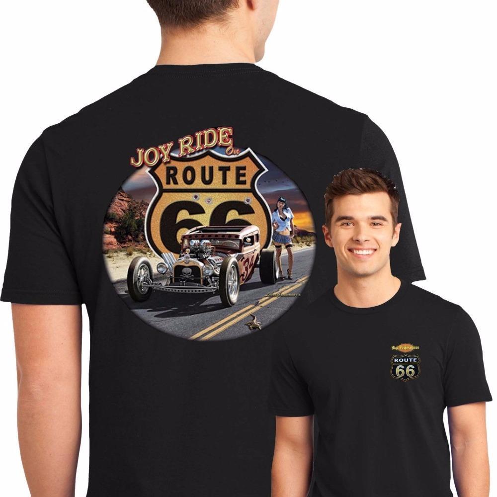Compre Crear Una Camisa Hombres Cortos Estilo De La Calle Route 66