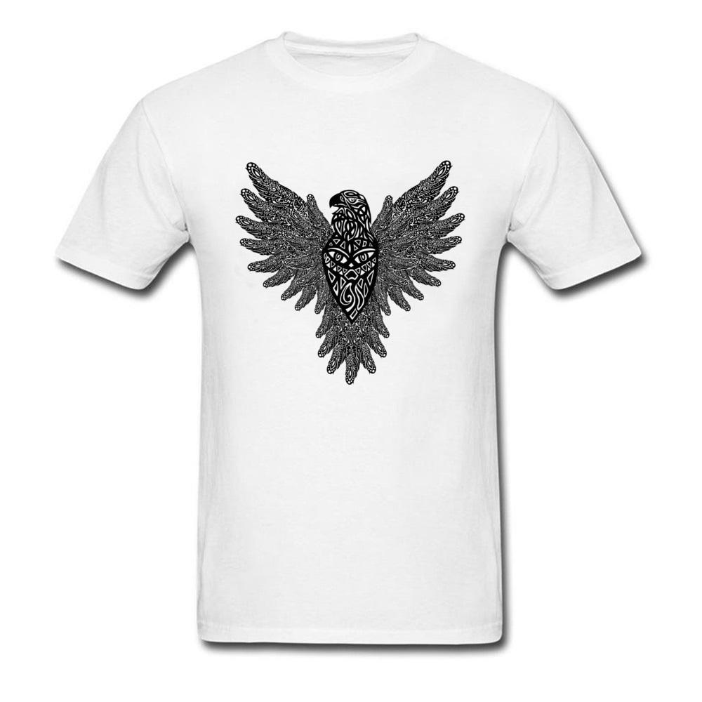 c6ec1a28 Trendy Vintage 2018 Men Eagle Print T Shirt Casual Family Custom Groups  White Tee Shirts Crewneck Cotton Clothing Sports T Shirts Men T Shirts From  ...