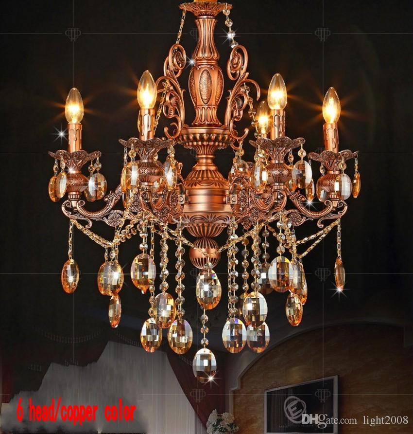 Yaratıcı moda avizeler mum kristal ışık oturma odası yemek odası yatak odası aydınlatma için ışık fikstür