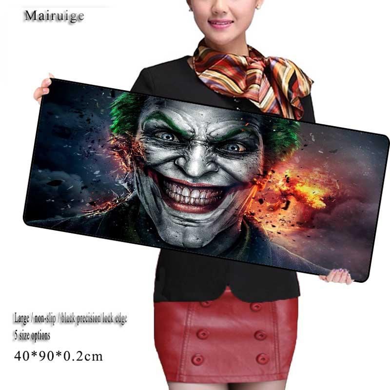Mairuige Store Anime Large Size 90cm 40cm Grande Funny Joker Mouse Pads Speed Computer Gaming Mouse Pad Locking Edge Table Mat