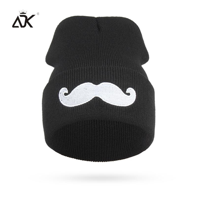 ADK Men Women Beanies Cute Moustache Cotton Winter Clothing Accessory Hats Brand Fashion Casual 2018 New Caps For Girls Boys