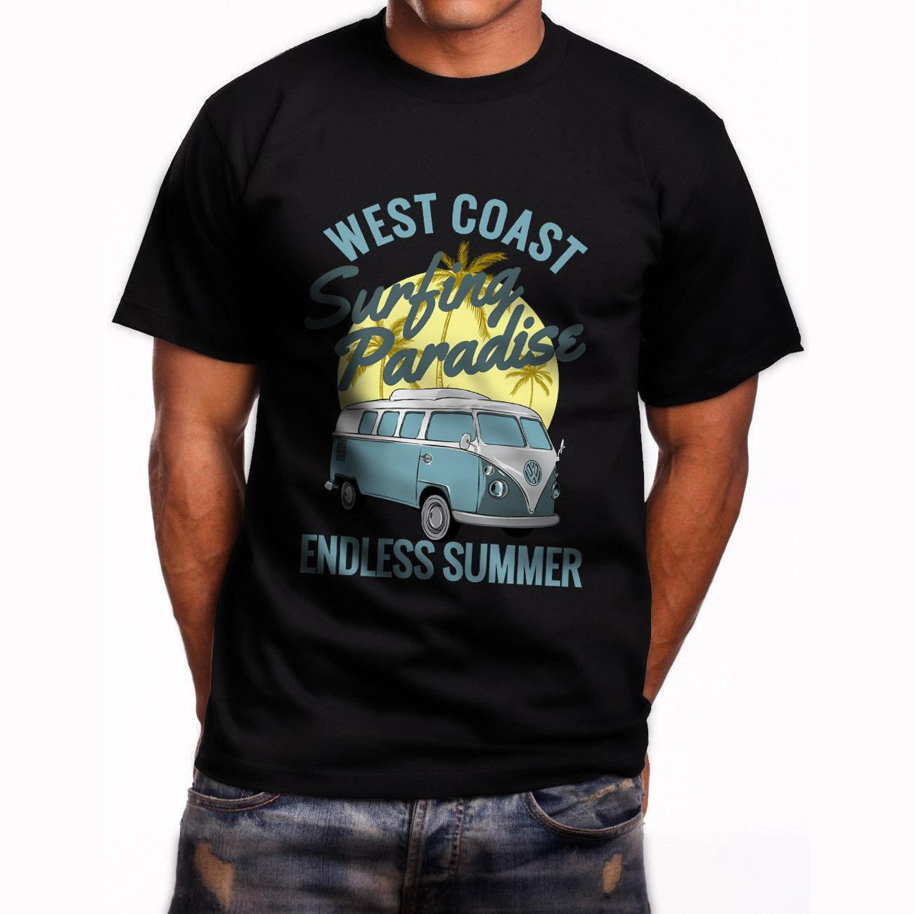 1a0190b749 West Coast Surfing Paradise Endless Summer Men'S Black T Shirt 2018 Funny  Tee Cute T Shirts Man 100% Cotton Cool Funky Tee Shirts Humor T Shirt From  ...