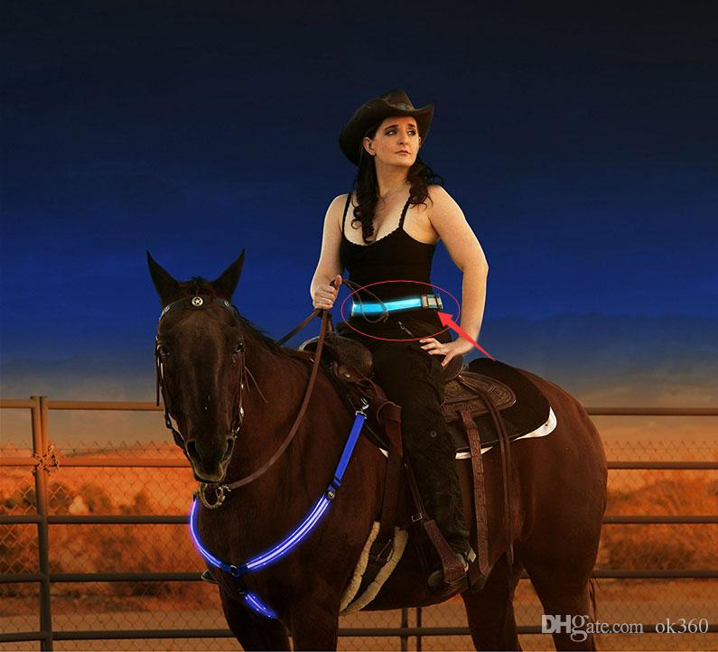 Cinture luminoso unisex LED LED lampeggiante cintura 40-100CM nylon cintura di sicurezza riflettenti Cintura biciclette Jogging Correre fascia della vita