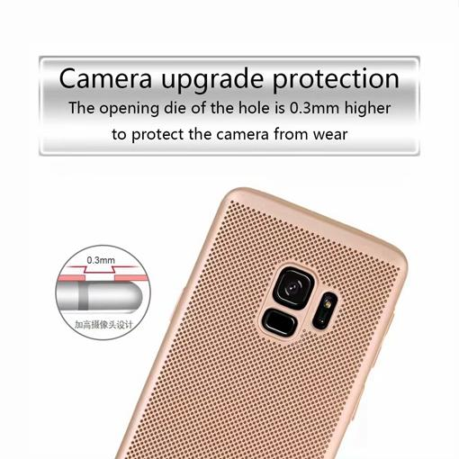 Mesh Dots Hard PC Case For Samsung Galaxy S9 Plus A8 2018 Redmi NOTE4 NOTE 4X Woven Breathable Plating dot Cell Phone Back Skin Cover