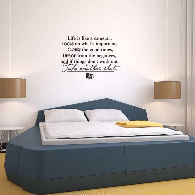 La vita è come un live motto Adesivi murali Stickers murali camera da letto