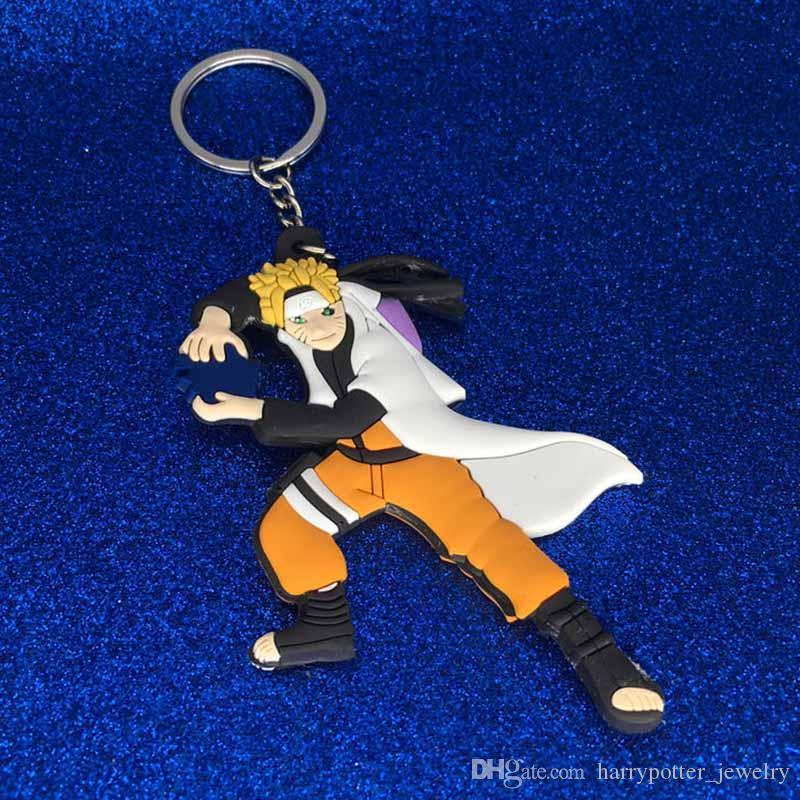 Nuevo Naruto llavero de plástico Naruto Uzumaki Sakura figuras de acción llavero llaveros regalo de joyería de moda envío de la gota 170887