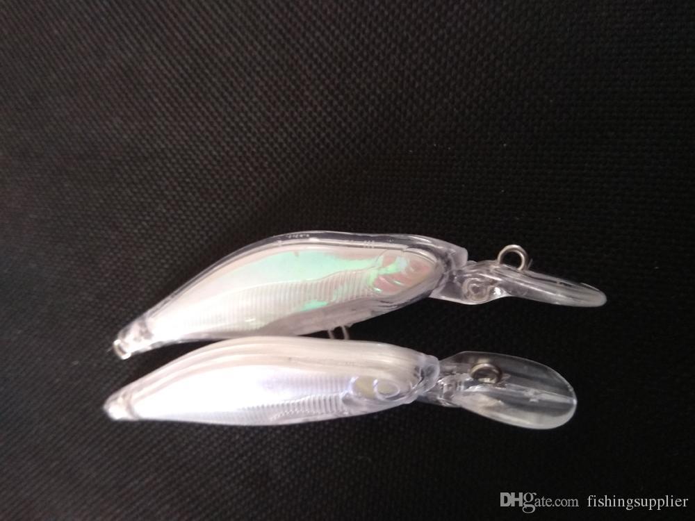 Unpainted Fishing Lure Body Minnowbait Hardbait Fishing Wobbler Artificial baits 3 1/3 Inch 3/16 Oz Blank lures FFE168