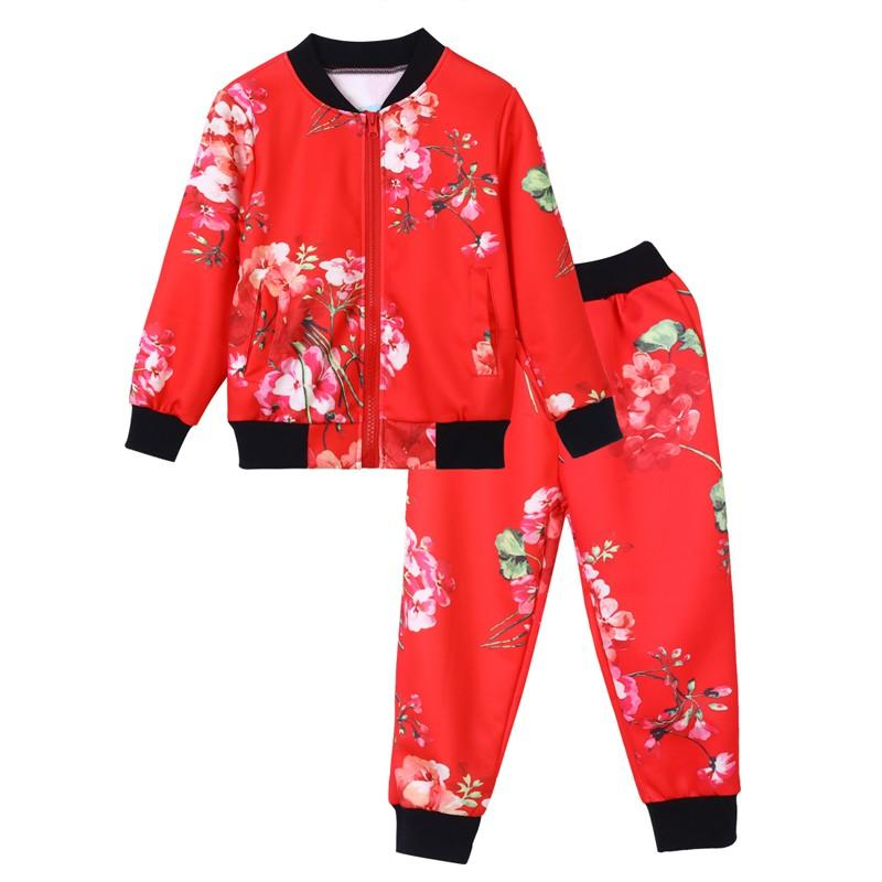 341f3dd932e MUQGEW Fashion Kids Winter Clothes Boys Clothing Set Floral Print Zipper  Tops Coat Pants Children Clothing Set Roupas Meni Clothing Sets Cheap Clothing  Sets ...