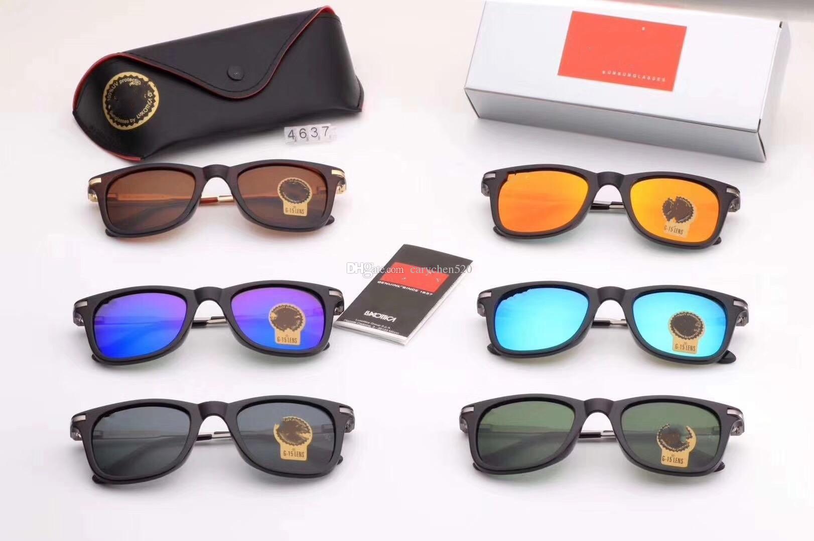 0581b564f4 New 4637 Men Retro Sunglasses Luxury Women Brand Designer Plank ...