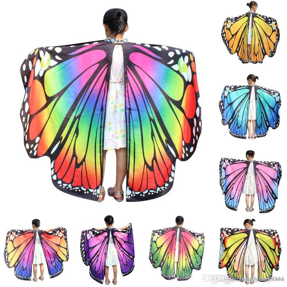 3933c5be88e3a New Kid Girl scarf beauty Butterfly Wings Shawl Scarves Nymph Pixie Poncho  Costume Accessory ponchos and capes
